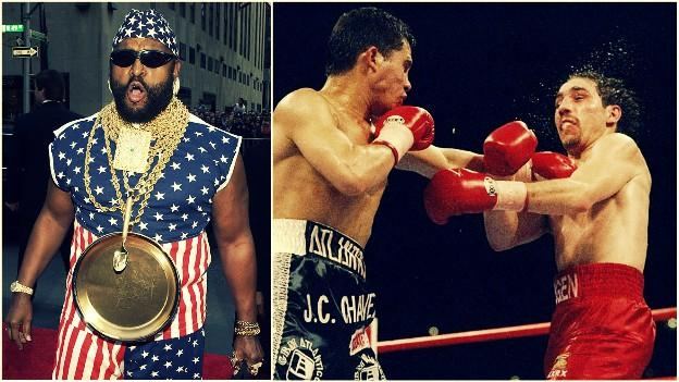 Bunce was joined ringside by Mr. T, as Chavez went to work on Haugen