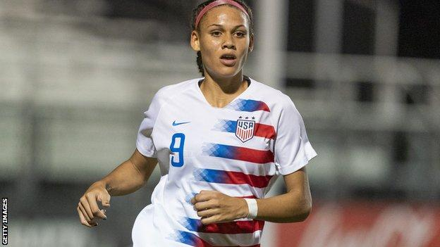 Trinity Rodman playing for US U20