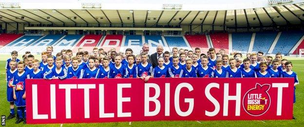 Brian McClair helped launched the latest intake of Scottish FA Performance School pupils in August