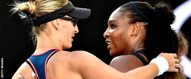 Mirjana Lucic-Baroni and Serena Williams