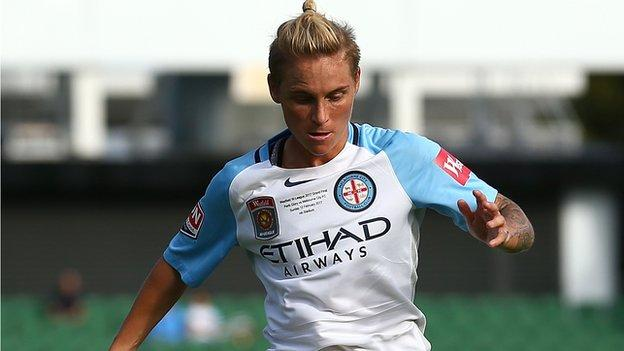Jess Fishlock in action for Melbourne City