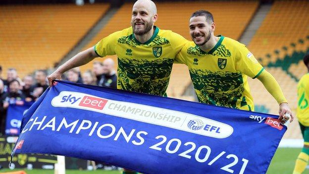 Norwich City won the Championship title earlier this year