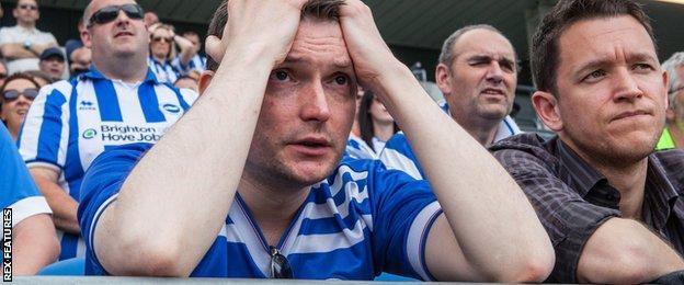 Brighton supporters