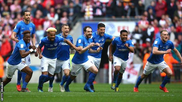 Portsmouth celebrate their victory