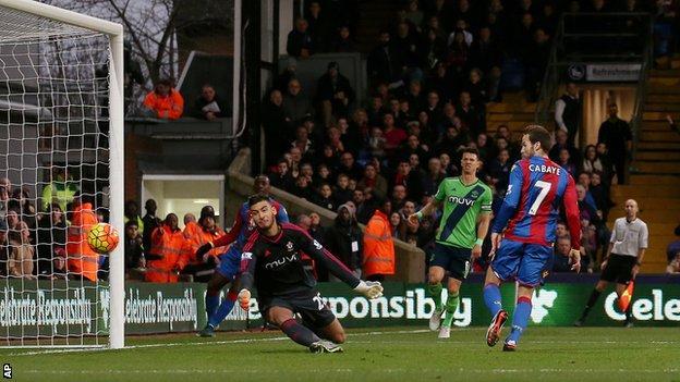 Yohan Cabaye scores for Crystal Palace