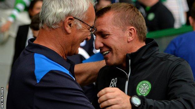 Brendan Rodgers and Claudio Ranieri