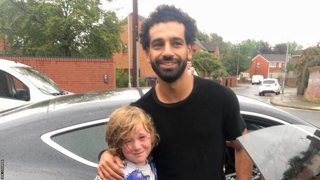Mohamed salah and fan
