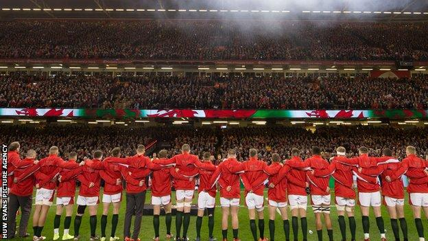 Wales' most recent match at the Principality Stadium in front of crowds was their Six Nations loss to France in February 2020