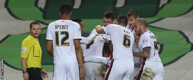 MK Dons celebrate