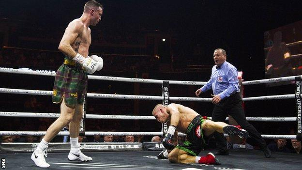 Josh Taylor floored Ivan Baranchyk twice in the sixth round