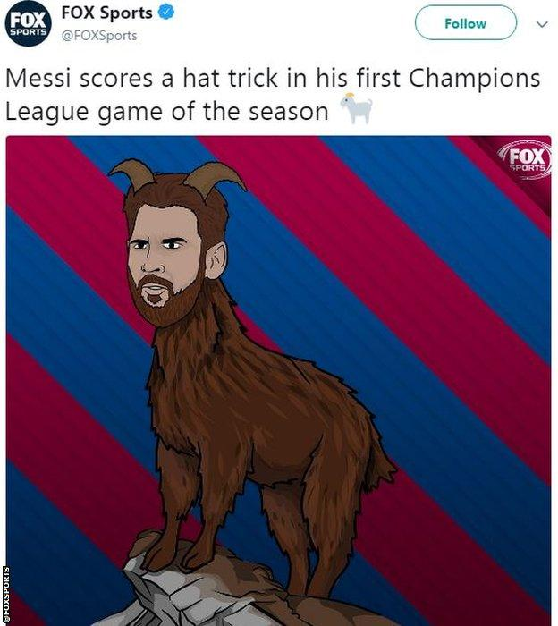 Fox Sports Messi tweet