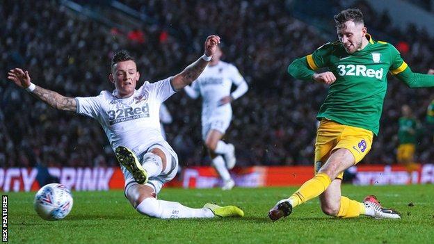 Alan Browne scores for Preston at Leeds