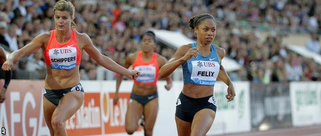 Allyson Felix and Dafne Schippers