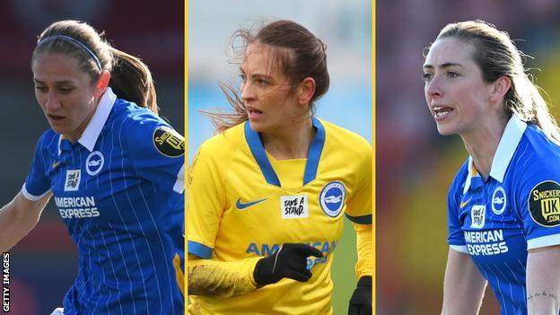 Aileen Whelan, Kayleigh Green y Megan Connolly ayudaron a Brighton a terminar sexto en la Superliga femenina la temporada pasada