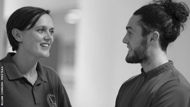 Lyndsey Barrett and Jack Edgar, leaders at Sport for Confidence