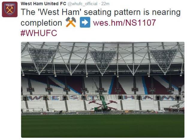 West Ham tweet