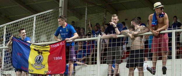 Inverness Caley Thistle fans made the long journey to Romania where they saw their team draw 0-0 with Astra Giurgiu in the Europa League's second qualifying round