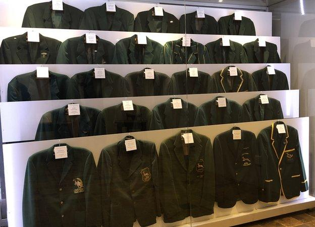 Springbok blazers in school museum