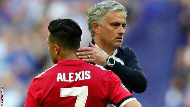 Alexis Sanchez and Jose Mourinho