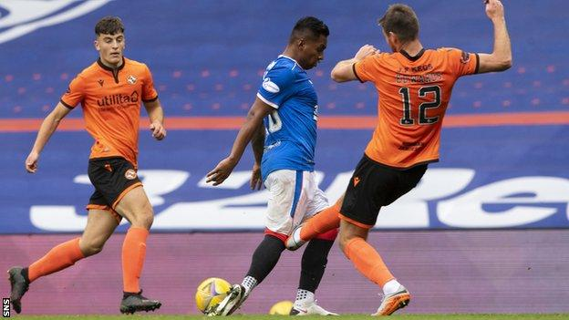 Ryan Edwards was not punished for this challenge on Alfredo Morelos