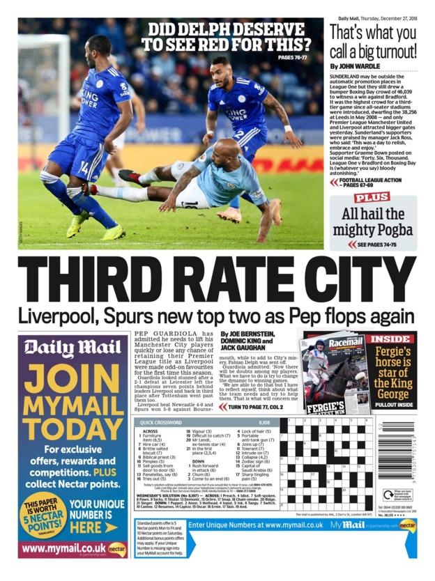 The Daily Mail back page