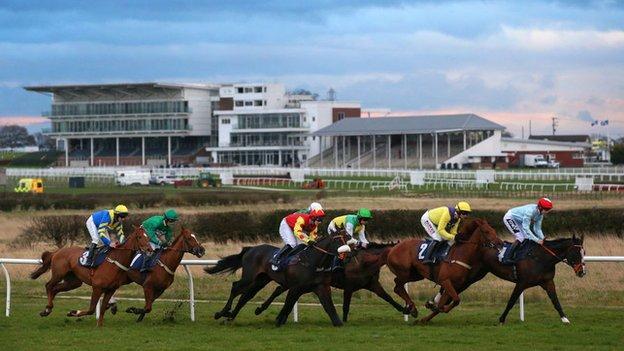 Racing is set to be held behind closed doors when it returns