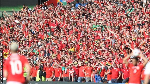 Wales fans at Euro 2016