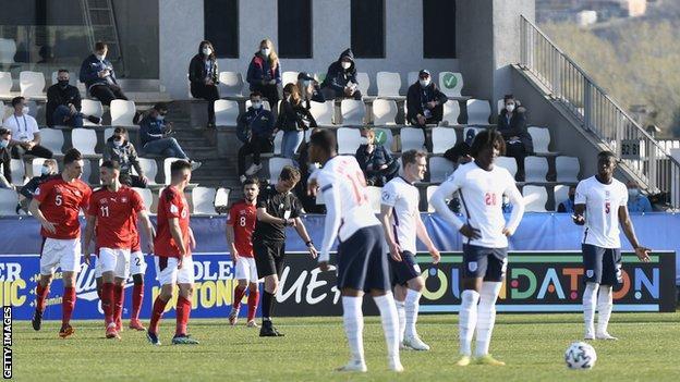 Switzerland Under-21s players celebrate