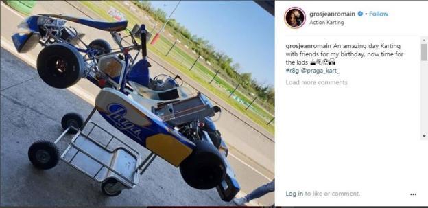 Romain Grosjean on Instagram