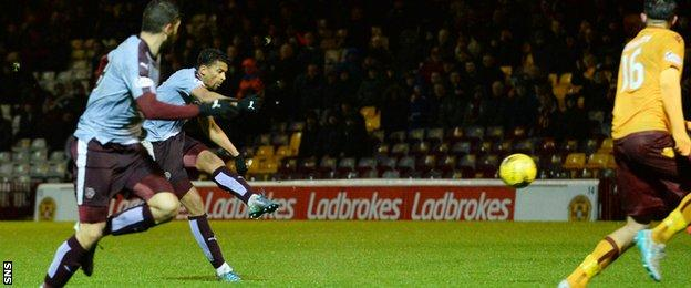 Osman Sow scores for Hearts