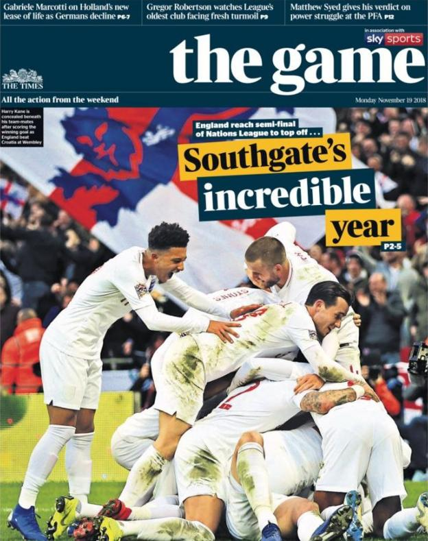 Times' 'the game' cover