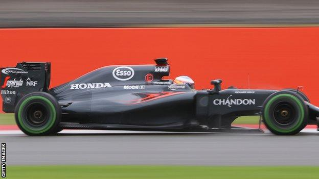 Fernando Alonso in the McLaren Honda