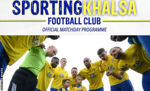 Sporting Khalsa's matchday programme for the visit of FC United
