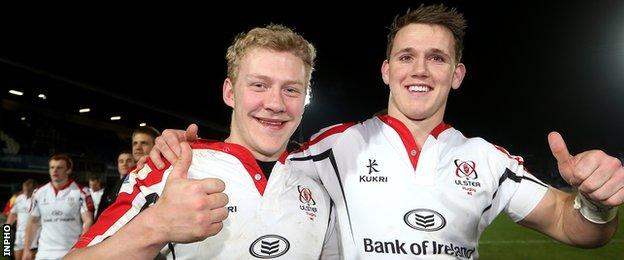 Ulster team-mates Stuart Olding and Craig Gilroy have been named in Joe Schmidt's starting line-up