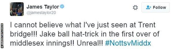 James Taylor tweet