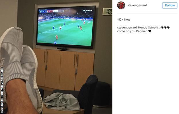 Steven Gerrard instagram