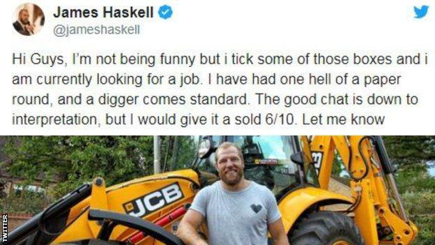 James Haskell tweet
