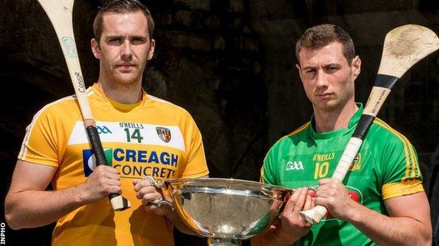 Antrim's Conor Carson and Meath's James Toher may have to face each other again if the GAA decide to replay the Christy Ring Cup final