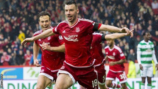 Paul Quinn scored a late winner against Celtic earlier this season