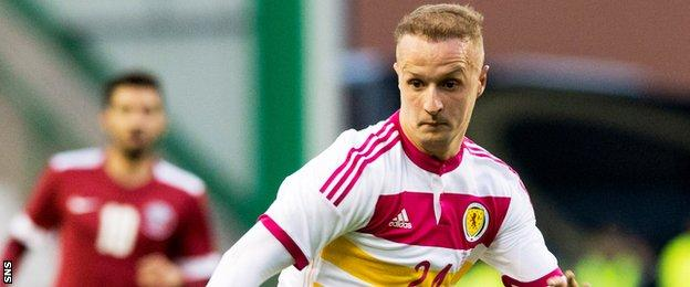 Griffiths is aiming to become a key man in Gordon Strachan's Scotland side