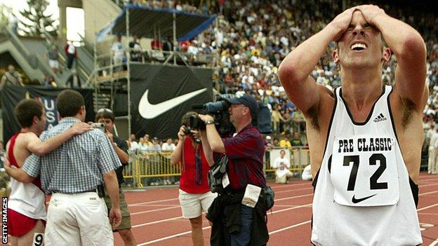 Steve Magness at the Prefontaine Classic in 2003
