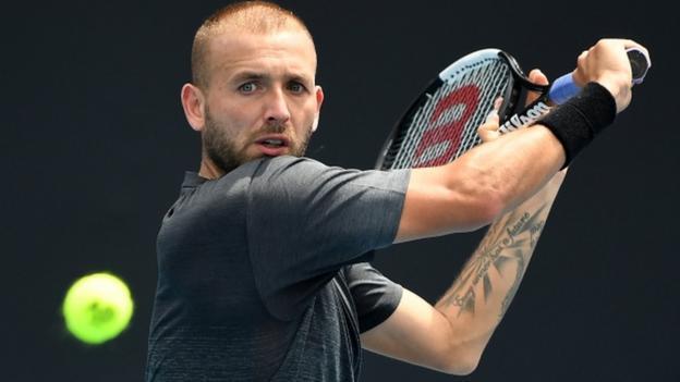 Australian Open: Dan Evans fights back to reach second round - BBC Sport