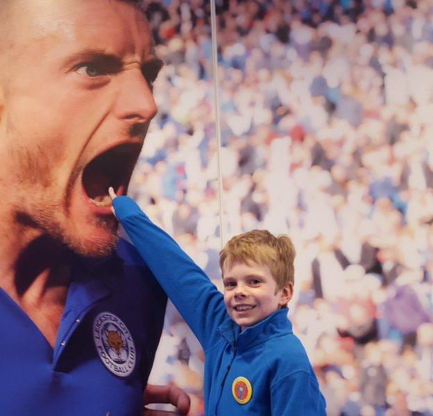 Leicester arranged for Charlie to be given a stadium tour