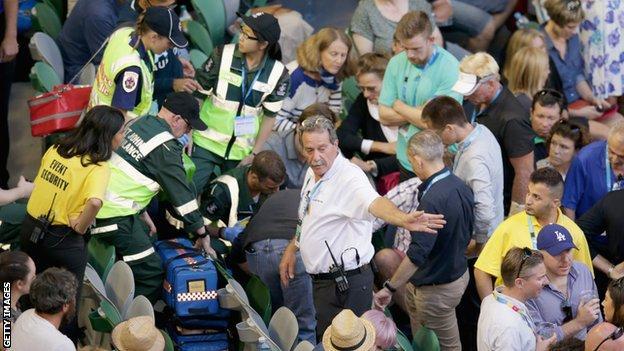 Medics attend to Nigel Sears