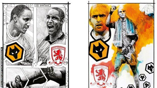 Jody Craddock's tribute to Paul Ince on the front cover for Saturday's opening home game with Middlesbrough (left) was replaced by one in honour of another former Wolves team-mate Carl Ikeme when he heard about the goalkeeper's battle against leukaemia