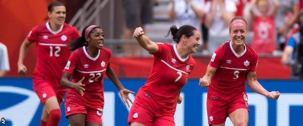 Canada celebrate