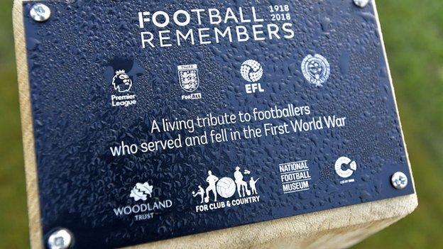 West Ham WW1 tribute