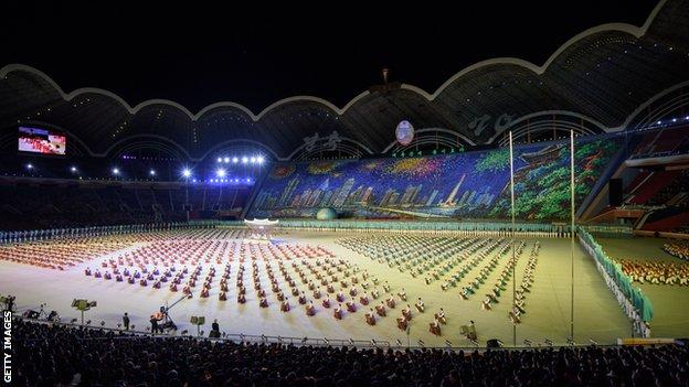 Pyongyang's 114,000-capacity May Day Stadium