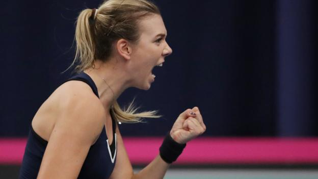 Fed Cup: Katie Boulter wins to put Great Britain ahead against Serbia thumbnail