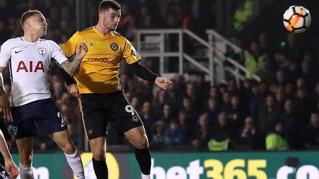 Kane rescues Spurs as Newport earn replay - highlights & report